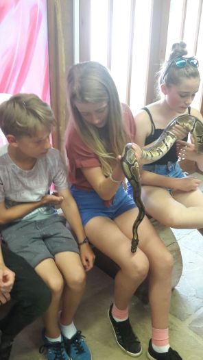 Ballard Longleat snake girls