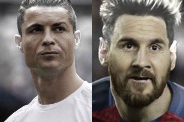 Messi e Ronaldo invecchiati
