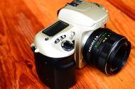 กล้องฟิล์ม Nikon F60 พร้อมเลนส์มือหนุน Helios 44M-4 สภาพสวย (3)
