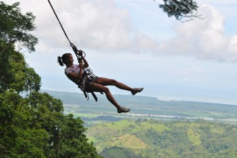 Tarzan swing, Canopy Tours in Osa