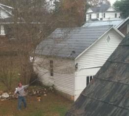 Ballentine-Spence House garage roof