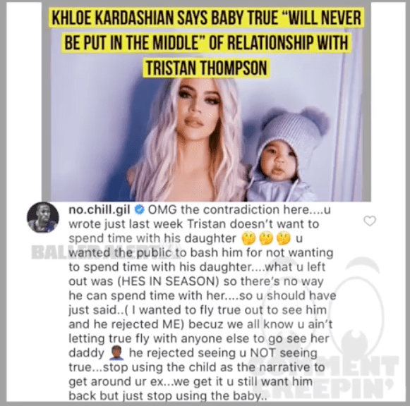 Gilbert vs Khloe Kardashian