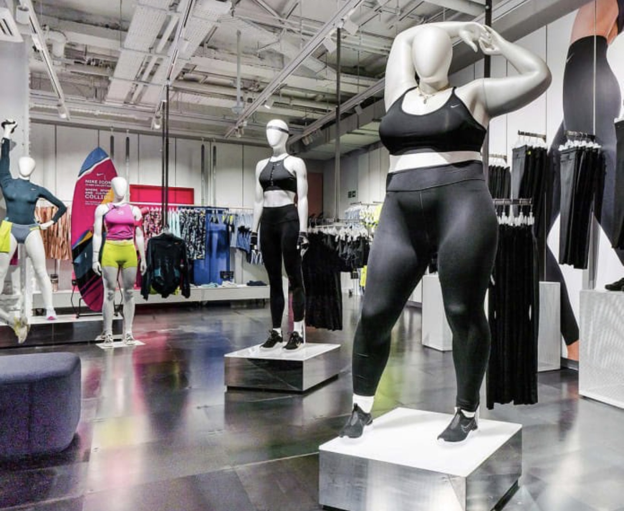 4ff1454494812 Nike Introduces Curvy Mannequin For The First Time - Baller Alert