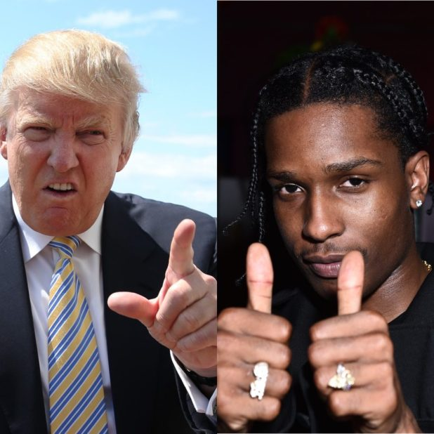 Trump vs Asap Rocky