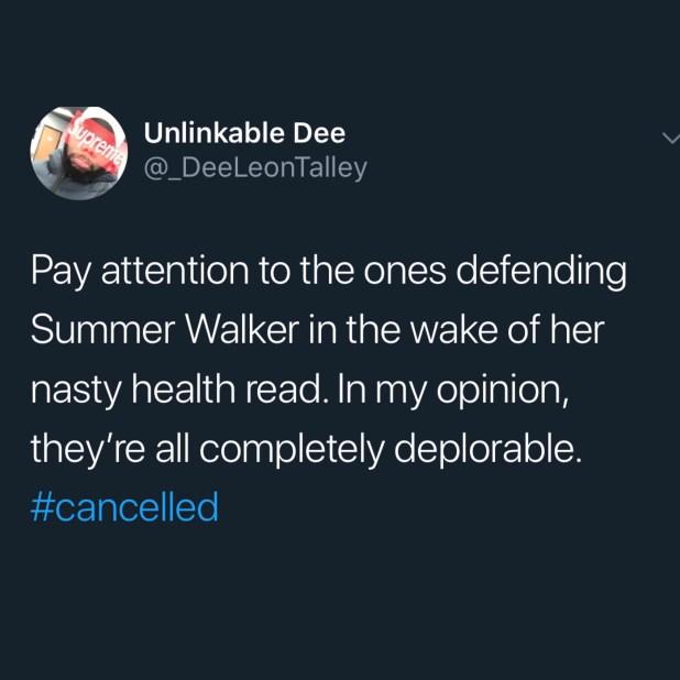 Summer Walker on HIV