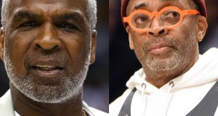 Charles Oakley and Spike Lee
