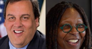 Whoopi and Chris Christie