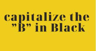Capitalize the B in Black