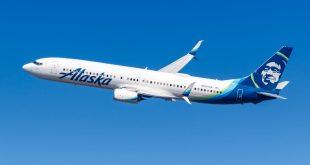 Alaska Airlines Boeing 737-900ER airplane New York JFK airport