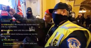 capitol hill police takes selfie
