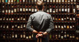 Bartender at wine cellar