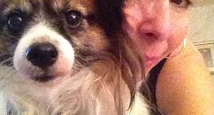 Rhonda Bomwell and her dog, Pierre
