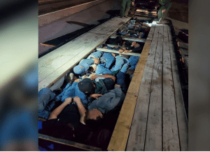 Photos of immigrants taken by Chief Patrol Agent Austin Skero and posted to Twitter.