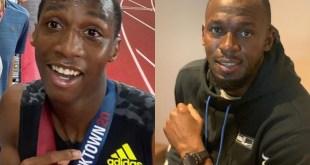 Erriyon Knighton and Usain Bolt - IG Selfies