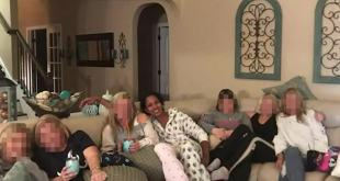 Black mom at an all-white adult slumber party