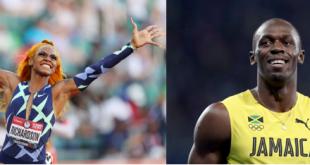 Sha'Carri Richardson and Usain Bolt