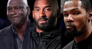 Michael Jordan, Kevin Durant, and Kobe Bryant