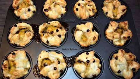 Blätterteig Muffins mit Mango-Kokos-Creme 11