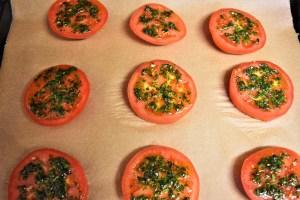 Tomaten mit Brösel Haube Zubereitung 6