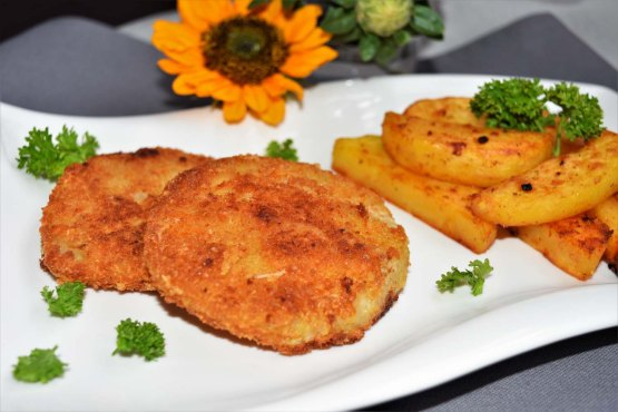 Kohlrabi Schnitzel im Parmesan Mantel-Rezept