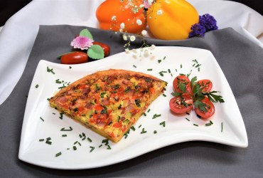 Gemüse Brot Omelett Rezept