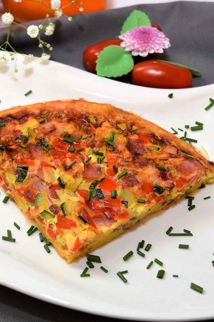 Gemüse Brot Omelett-Abendessen-ballesworld