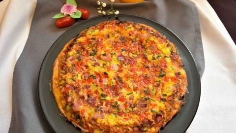 Gemüse Brot Omelett-Anrichten-ballesworld