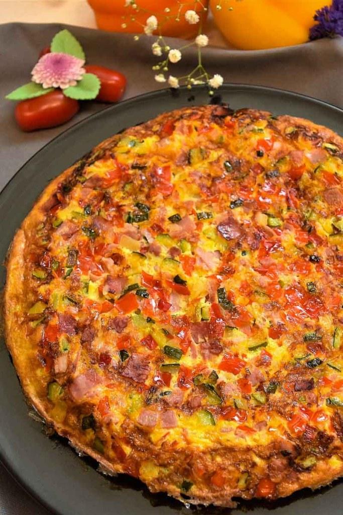 Gemüse Brot Omelett-Frühstück-ballesworld