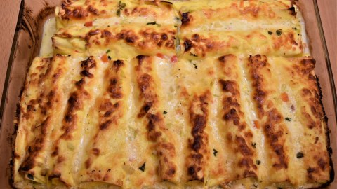 Spitzkohl Lasagne Rollen