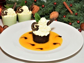 Schokoladen Orangen Cupcakes Dessert