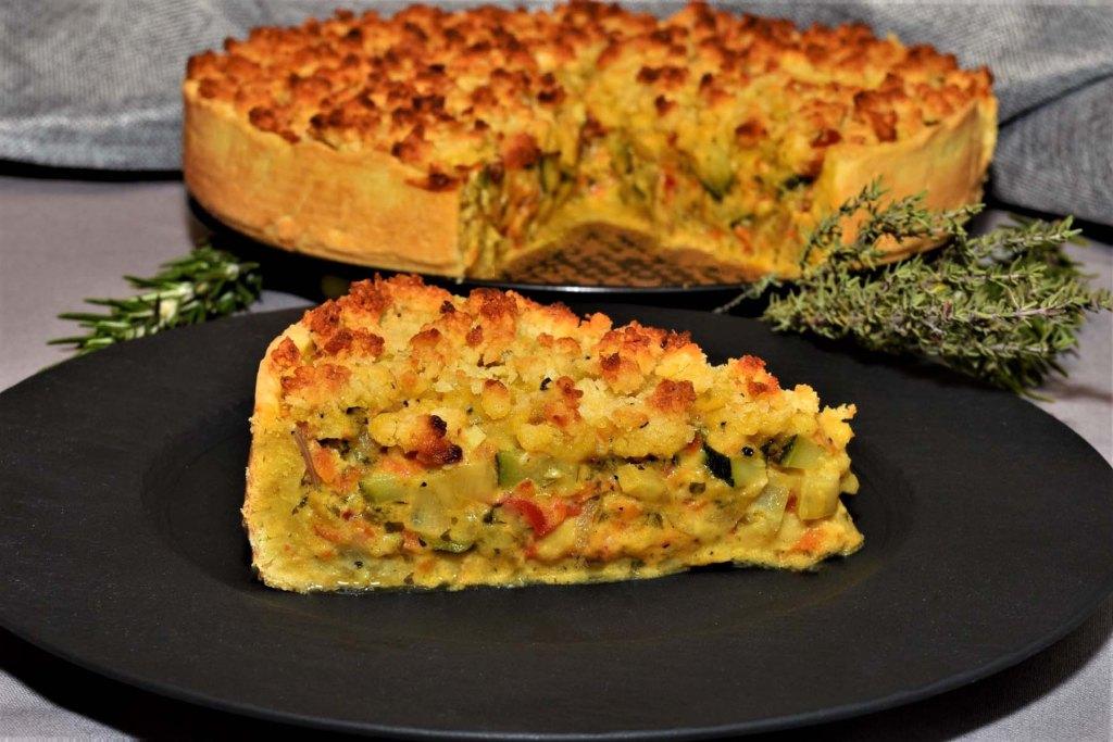 Gemüse Tarte mit Knusperstreusel Rezept