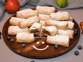 Filo Teig Röllchen Dessert