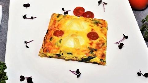 Quiche mit gekochten Eiern und Bärlauch-Anrichten-ballesworld