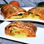 Käserolle im Zucchini Blätterteig Mantel Rezept