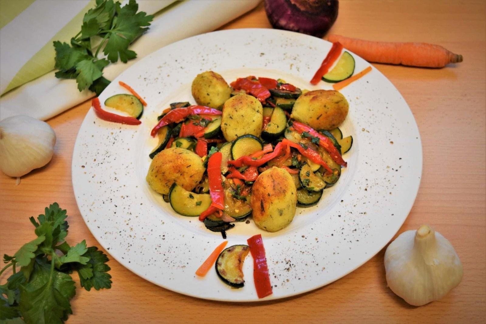 Gnocchi mit gebratenem Gemüse