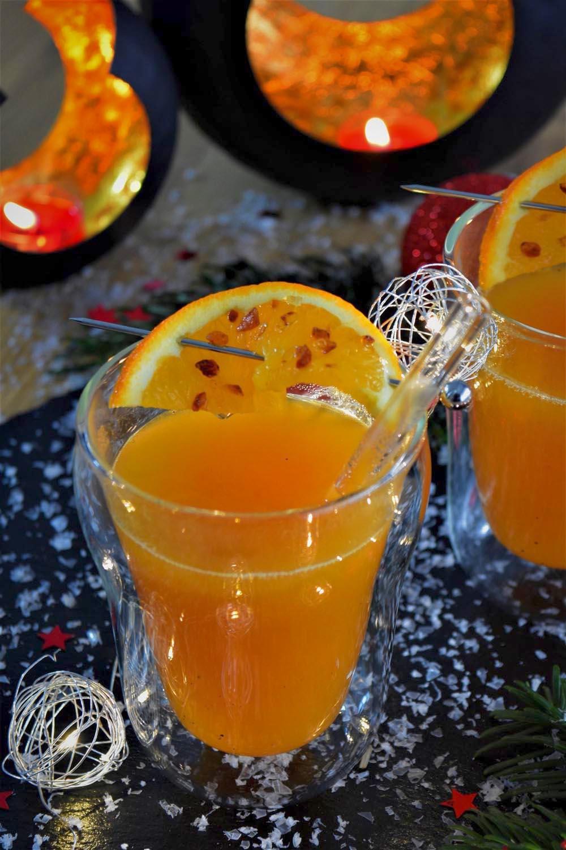 Kürbis-Orangen-Punsch