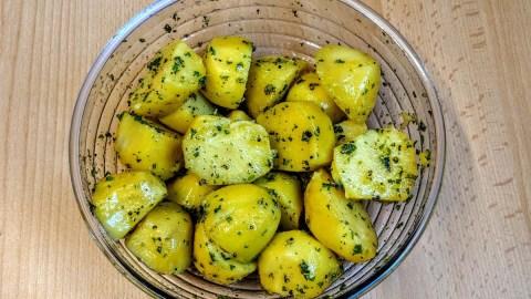Schweinemedaillons und Kartoffel Zubereitung 3