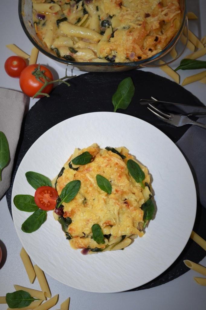 Nudel-Spinat-Auflauf-Schnelle Pasta Gerichte