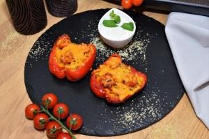 Mit Bulgur gefüllte Paprika
