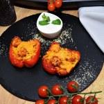 Mit Bulgur gefüllte Paprika Rezept