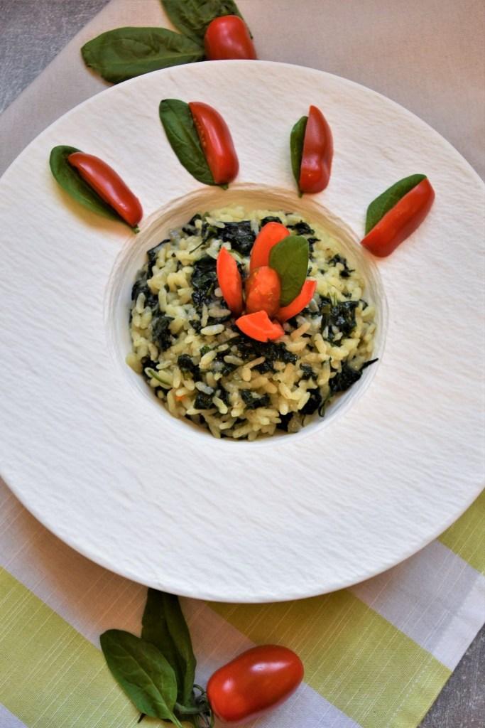 Veganer-Spinat-Reis-Auflauf