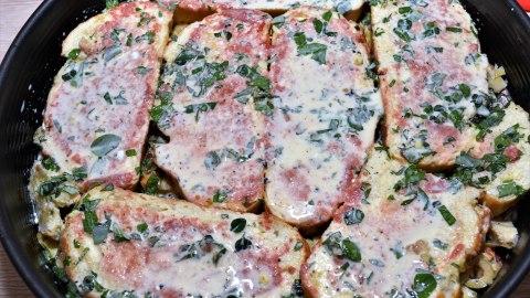 Pizza-Tarte aus altem Brot