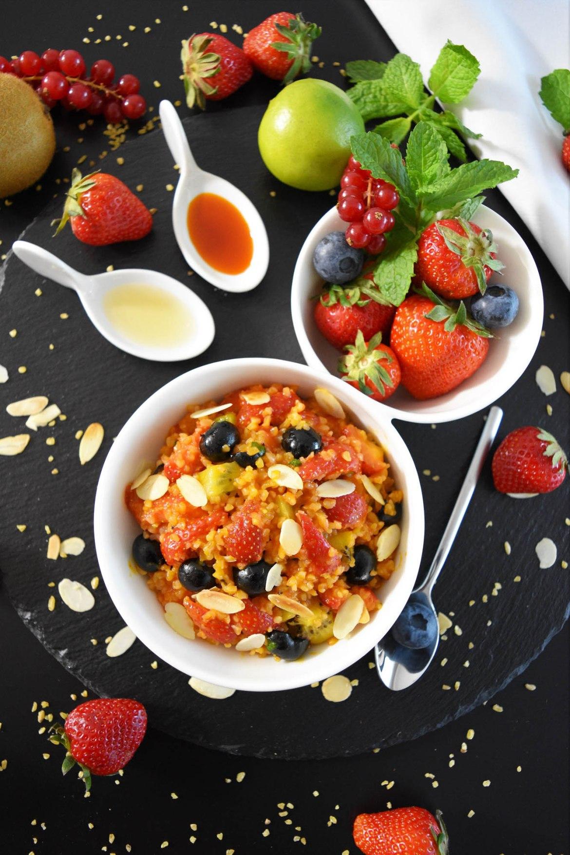 Fruchtiger Bulgur Salat mit Sanddorn Rezeptidee