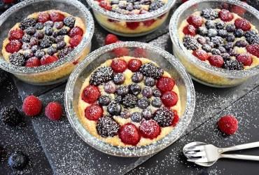 Beeren Kuchen im Glas Rezept