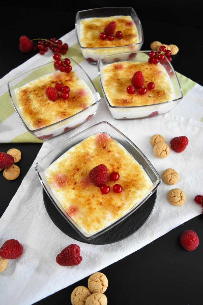 Himbeere Amarettini Dessert-Obst Dessert-BallesWorld