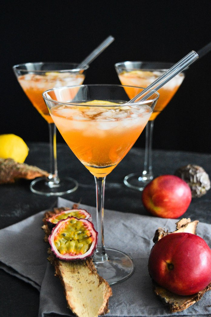 Lillet Pfirsich Maracuja Cocktail-Rezeptidee-BallesWorld