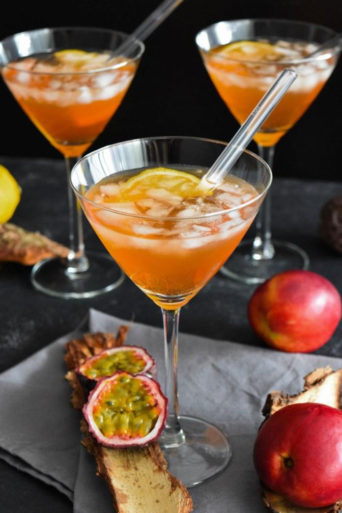 Lillet Pfirsich Maracuja Cocktail-Sommer-BallesWorld