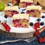 Mandel-Grieß Kuchen mit Johannisbeeren-Rezept-ballesworld