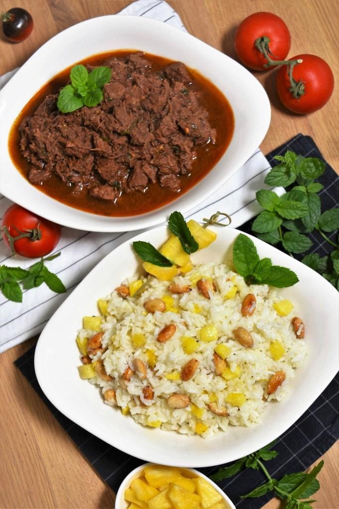 Exotisches Rindfleisch mit Reis-Rezeptideen-ballesworld