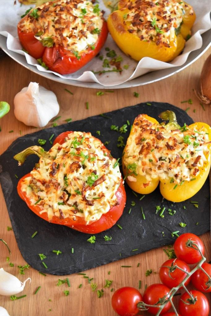 Gefüllte Paprika mit weißen Bohnen-Überbacken-ballesworld